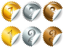 Games medals or labels-set3 Royalty Free Stock Photo