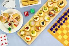 Games Night Food Stock Photos