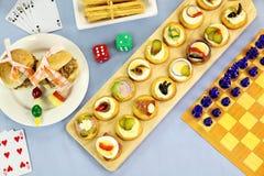 Games Night Food Stock Photos