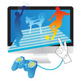 Games Online Stock Photo