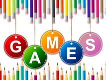 Games Play Indicates Leisure Gaming And Entertainment Royalty Free Stock Images