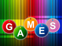 Games Play Means Gamer Leisure And Entertainment Royalty Free Stock Photo