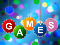 Games Play Represents Recreational Gaming And Entertainment Stock Photography