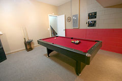 Games Room. A Games Room with Pool Table in a Home Stock Image