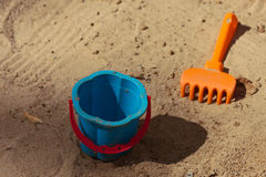 Games in the sandbox. Stock Photo