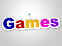 Games Sign Represents Play Time And Fun Royalty Free Stock Image