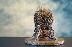 Games of Thrones HBO authorized replica of the Iron Throne. Games of Thrones HBO authorized replica of the Iron Throne with copy negative space. Adelaide, South stock photo