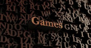 Games - Wooden 3D rendered letters/message Stock Photography