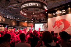 Gamescom - Guild Wars 2 Booth Royalty Free Stock Image