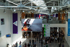 Gamescom hall royalty free stock photo
