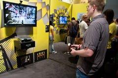 gamescomflyttningsplaystation 2010 Arkivfoton