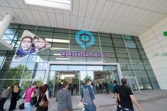 Gamescon entrance Royalty Free Stock Photo