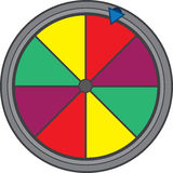 Gameshow Wheel. Isolated colorful game show wheel Royalty Free Stock Images