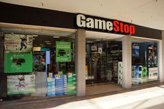 Gamestop store in Ala Moana shopping center. HONOLULU, HI - AUGUST 7, 2014: Gamestop store in Ala Moana shopping center. Gamestop Corporation exists since 1984 stock image