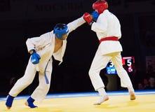Gamidullaev R. (R) and Razavi R. (B) fight Stock Image