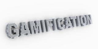 gamification слова текста дизайна матрицы кубов 3d иллюстрация штока