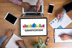 Gamification photo stock