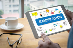 Gamification imagem de stock