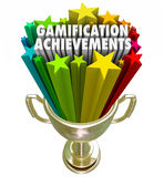 Gamification Achievement Trophy Game Competition Reward Royalty Free Stock Image