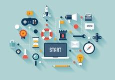 Gamification in bedrijfsconceptenillustratie
