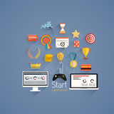 Gamification in business- Flat design Royalty Free Stock Photography