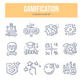 Gamification Doodle Icons Royalty Free Stock Photography