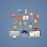 Gamification im flachen Design des Geschäfts Lizenzfreie Stockfotografie