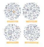 Gamification klotterillustrationer vektor illustrationer