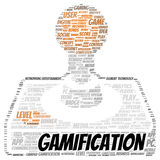 Gamification word cloud shape Stock Photography