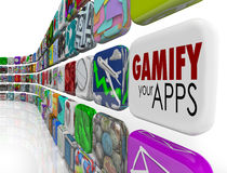Gamify Your Apps Software Gamification Engage Retain Customers vector illustration