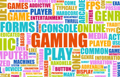 Gaming. Entertainment on Console Concept as Art Stock Image