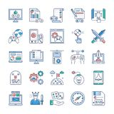 Video Game Icons Pack royalty free illustration