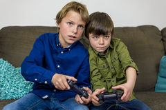 Gaming brothers Royalty Free Stock Images