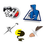 Gaming Business Logos. Gaming Console Logo Fun Design Stock Photos