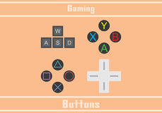Gaming buttons Stock Image