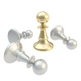 Gaming chess figure composition isolated Royalty Free Stock Images