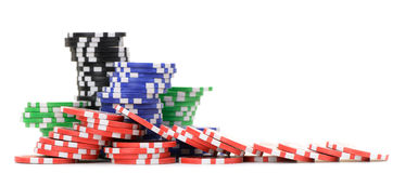 Gaming chips Royalty Free Stock Images