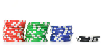 Gaming chips Stock Photos