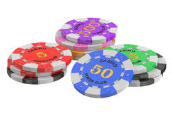 Gaming chips, 3D rendering Stock Photography