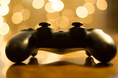 Gaming at Christmas stock images
