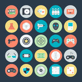 Gaming Colored Vector Icons 2. Lets play Game Here are the icons of Gaming. They can be used for sports and game. You will find icons of video games, joystick Stock Photography
