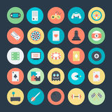 Gaming Colored Vector Icons 1 royalty free illustration