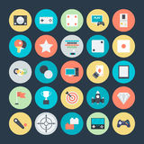 Gaming Colored Vector Icons 4. Lets play Game Here are the icons of Gaming. They can be used for sports and game. You will find icons of video games, joystick Stock Photo