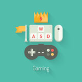 Gaming concept flat illustration Stock Image