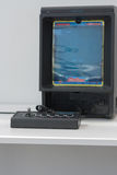 Gaming console with television at Animefest Stock Images