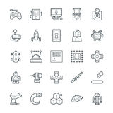 Gaming Cool Vector Icons 1. Lets play Game Here are the icons of Gaming. They can be used for sports and game. You will find icons of video games, joystick and Royalty Free Stock Image