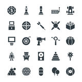 Gaming Cool Vector Icons 3. Lets play Game Here are the icons of Gaming. They can be used for sports and game. You will find icons of video games, joystick and Royalty Free Stock Images