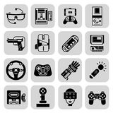 Gaming Gadgets Black Royalty Free Stock Images