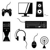 Gaming Icons Royalty Free Stock Images