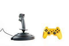 Gaming Joysticks Isolated Royalty Free Stock Photo
